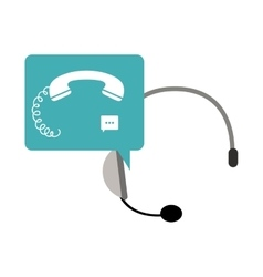 Isolated phone and headphone design vector