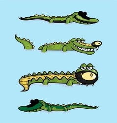 Crocodile collection vector