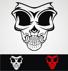 Skull mask tribal vector