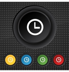 Clock sign icon mechanical clock symbol set vector