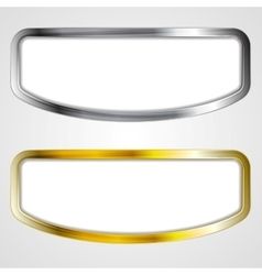 Abstract silver and golden frames vector image