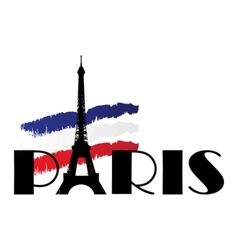 Paris flag vector