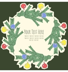 frame for text with fir branches vector image