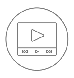 Video player line icon vector