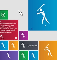 Golf icon sign buttons modern interface website vector