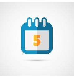 Calendar pictogram icon vector