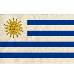 Uruguay paper flag vector image