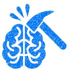 Brain impact grunge icon vector