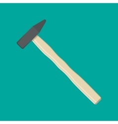 Carpenter hammer tool vector image