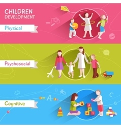 Children Banner Set vector image