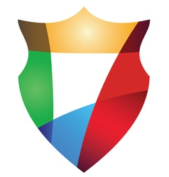 Colorful protection shield design concept vector image