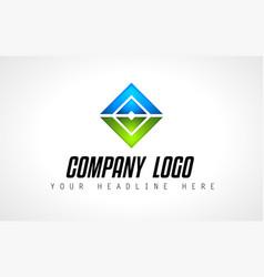 creative logo letter design for brand identity vector image