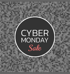 Cyber monday sale background banner template vector