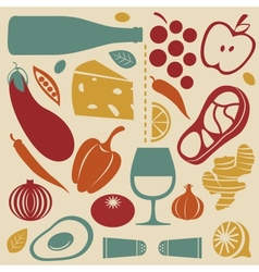 Delicious kitchen set vector image vector image
