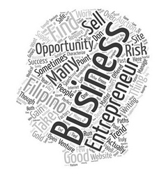 Filipino entrepreneur text background wordcloud vector