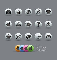Food Icons 1 Pearly Series vector image