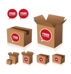 Free shipping and delivery set vector