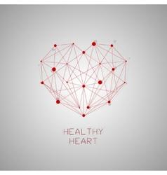 HEALTHY HEART vector image vector image