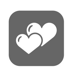 heart icon flat design best icon vector image