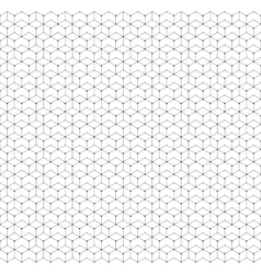 Hexagonal seamless pattern with lines and dots vector image vector image