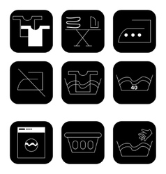 Icons for laundry services vector