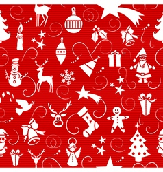 Merry Christmas icons seamless pattern vector image vector image