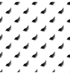 Plumage wing pattern simple style vector