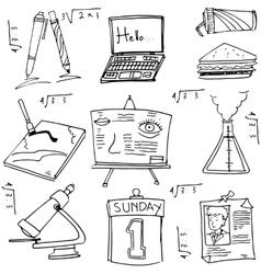 School education doodles collection vector