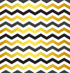 Seamless black and yellow chevron pattern vector