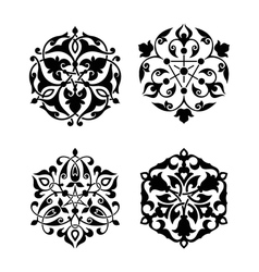 Set of arabic oriental ornament vector