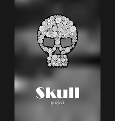 Skull in floral style your concept design vector