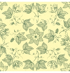 vintage floral seamless pattern element vector image vector image