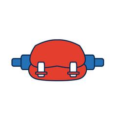 waist sport bag accessory sign vector image