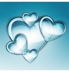 water drop heart two vector image