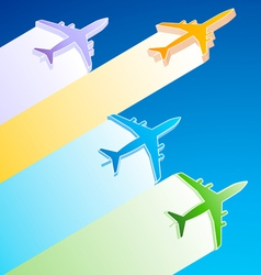 3D Airplanes vector image