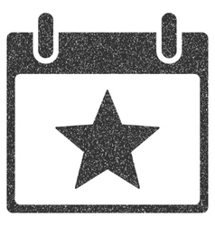 Star calendar day grainy texture icon vector