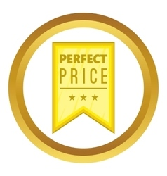 Perfect price pennant icon vector