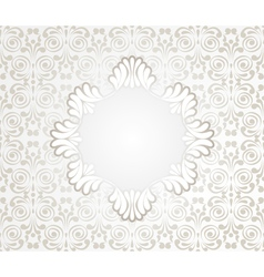 Card with lace design frame on seamless vintage vector