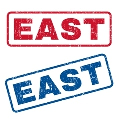 East rubber stamps vector