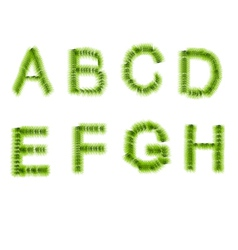 grass letters A B C D E F G H vector image