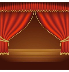 Red Theater Curtains vector image