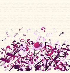 Colorful purple music background vector