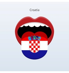 Croatia language abstract human tongue vector
