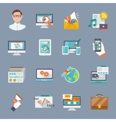 Seo internet marketing icon vector