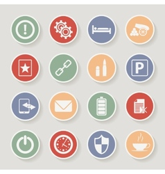 Universal round icons for web and mobile vector