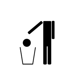 The man throws in the trash his head vector