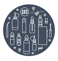 Icons set of vaporizer vector