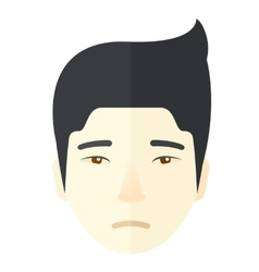 Face of a sad japanese guy vector