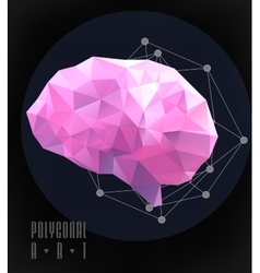 Abstract polygonal brain vector