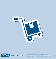 Truck with box logistic icon vector